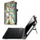 Fintie Samsung Galaxy Tab E 9.6 Keyboard Case - Slim Fit PU Leather Stand Cover - LOVE TREE