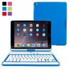 Snugg Slim Rotatable Keyboard Case with Blacktooth Connectivity for Apple iPad Air 2  blue