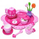 Wood Eats! Pink Blossoms Tea Set for Two (16pcs.) by Imagination Generation
