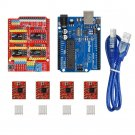 Gowoops 3D Printer kit CNC Shield V3 Expansion Board + UNO R3 Board + 4PCS
