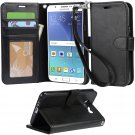 ARAE Galaxy J7 wallet Case with Kickstand and Flip cover, Black