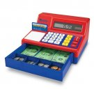 Solar activated calculator and cash register with LCD screen