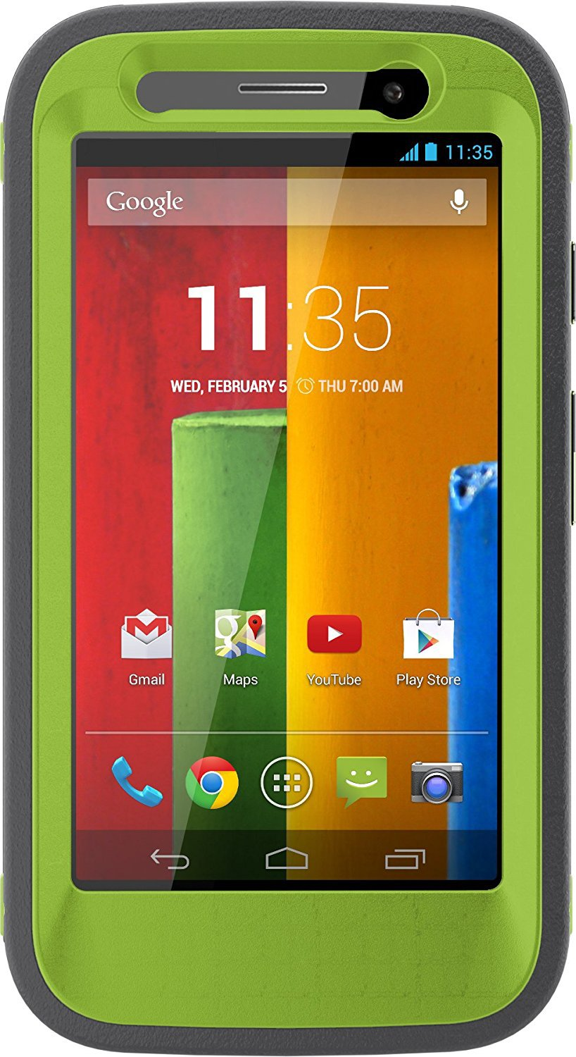 OtterBox DEFENDER SERIES for Moto G (1st Gen ONLY) -- KEY LIME (GLOW GREEN/SLATE GREY)