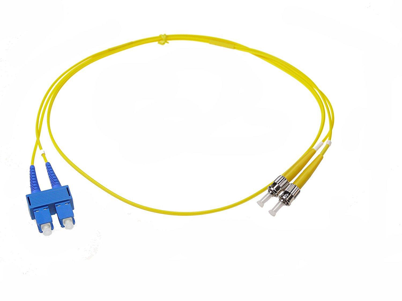 NTW NL-ST/SC-03SDR ST/SC Singlemode Duplex 9/125 Optical Fiber Nonconductive Riser Jumper Cable OS1