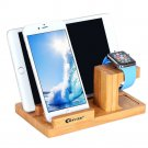 Apple Watch Stand, BAVIER Bamboo Wood Charge Dock