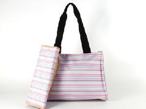 Stripe Martha Pink Diaper bag