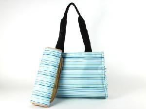 Stripe Martha Blue Diaper Bag