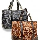 Signature Sara Front Pocket Tote Handbag