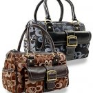 Signature Sara Front Pocket Satchel Handbag