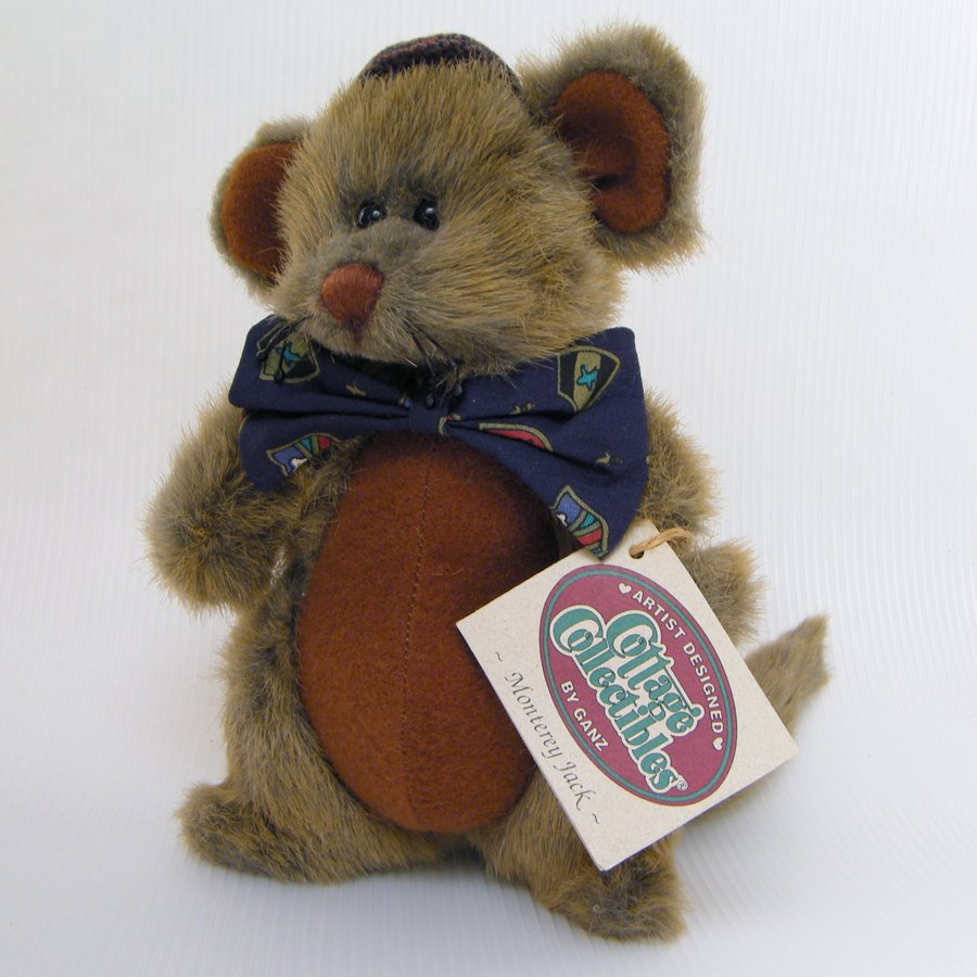 Ganz Cottage Collectibles MONTEREY JACK Plush Mouse CC156 MWT 1996
