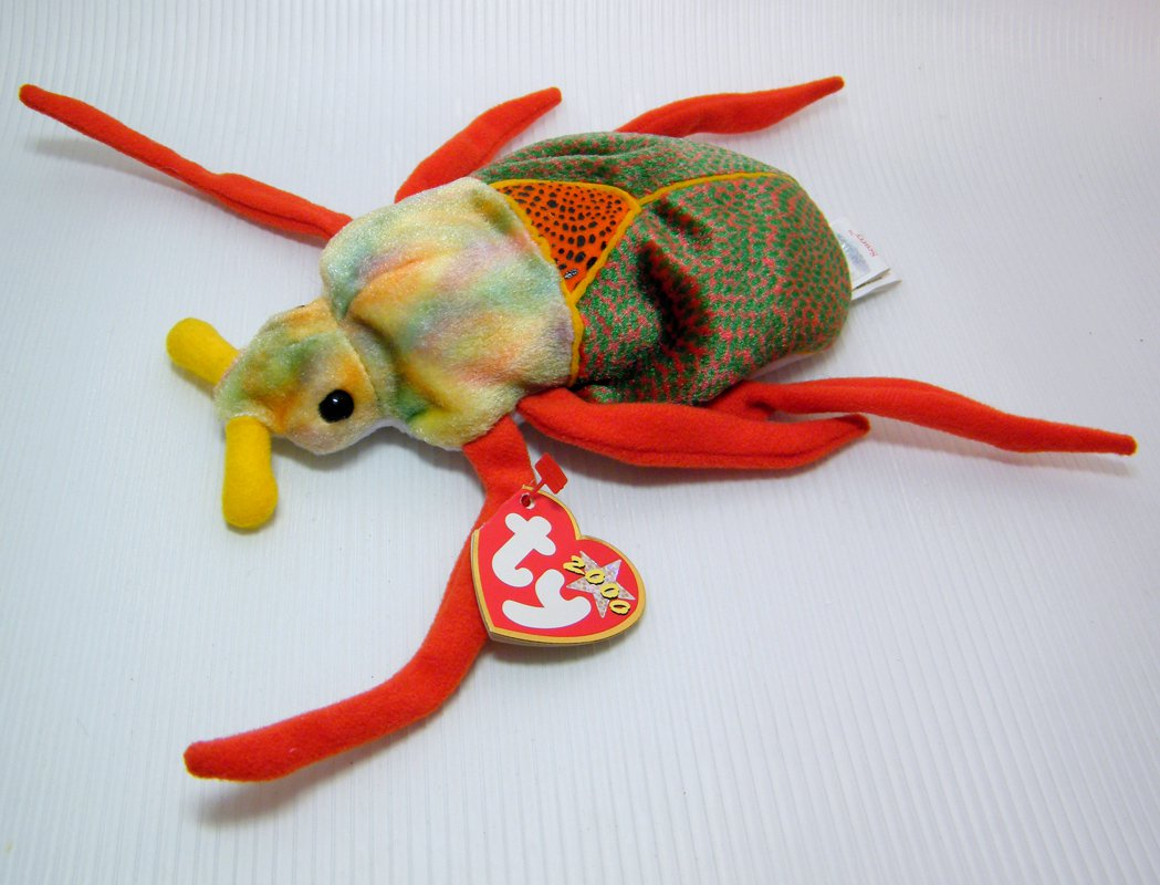 TY Beanie Babies SCURRY the Beetle DOB January 18, 2000 - NWT Retired