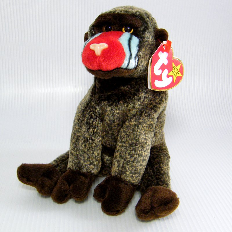 08b7b99268a Ty Beanie Babies CHEEKS Baboon Monkey DOB May 18