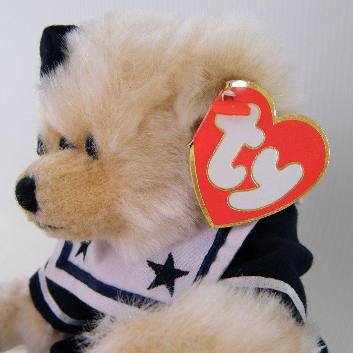 "Ty Attic Treasures BREEZY ""Ahoy Mate"" Jointed Beanie Teddy Bear Retired 1993 NWT"