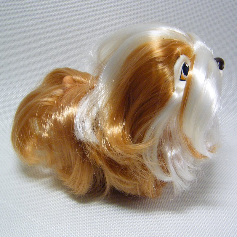 Vintage SWEETIE PUPS Bearded Collie Toffee Caramel Tan & White Hasbro