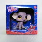 Littlest Pet Shop 1086 Purple Elephant Brown Eyes, Special LE Retired