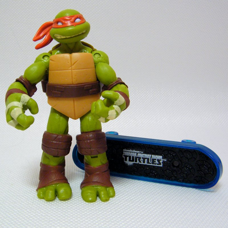 "Ninja Turtles TMNT Michelangelo 4"" Loose Figure 2012 Nickelodeon"