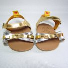Build A Bear METALLIC GOLD & SILVER SANDALS Kitty Heels BABW