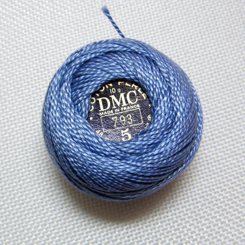 Dmc Perle 793 Sz5 Medium Cornflower Blue Crochet Cotton Size 5 48m