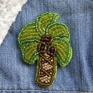 Palm tree brooch - handmade beaded tropical coconut tree kawaii trendy brooch pi