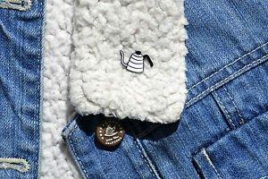 Coffee pin � cute enamel dallah coffee pot Qahwa arabic coffee pin brooch badge