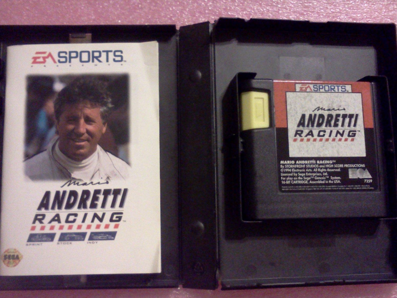 Mario Andretti Racing Sega Genesis, 1994**FREE US Shipping**