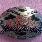 Harley Davidson Belt Buckle Rose