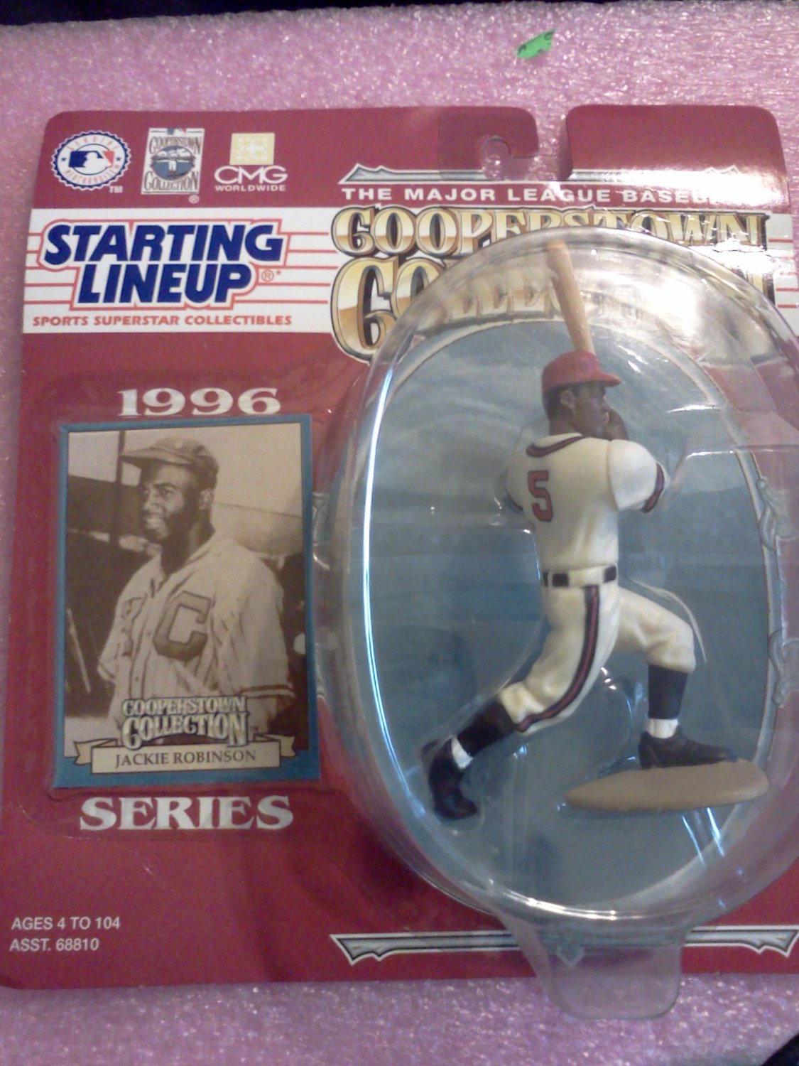 1996 Jackie Robinson Starting Lineup Figure-Cooperstown Collection-New In Packag
