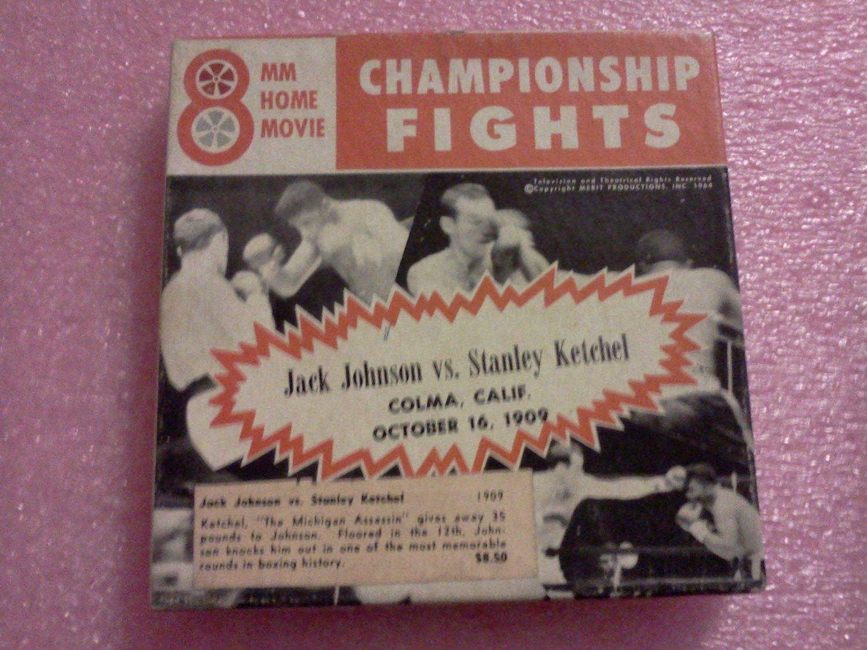 Championship Fights Jack Johnson vs Stanley Ketchel 8mm Film