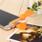 Mini Micro USB Fan Portable Travel Android Smart Phone Orange