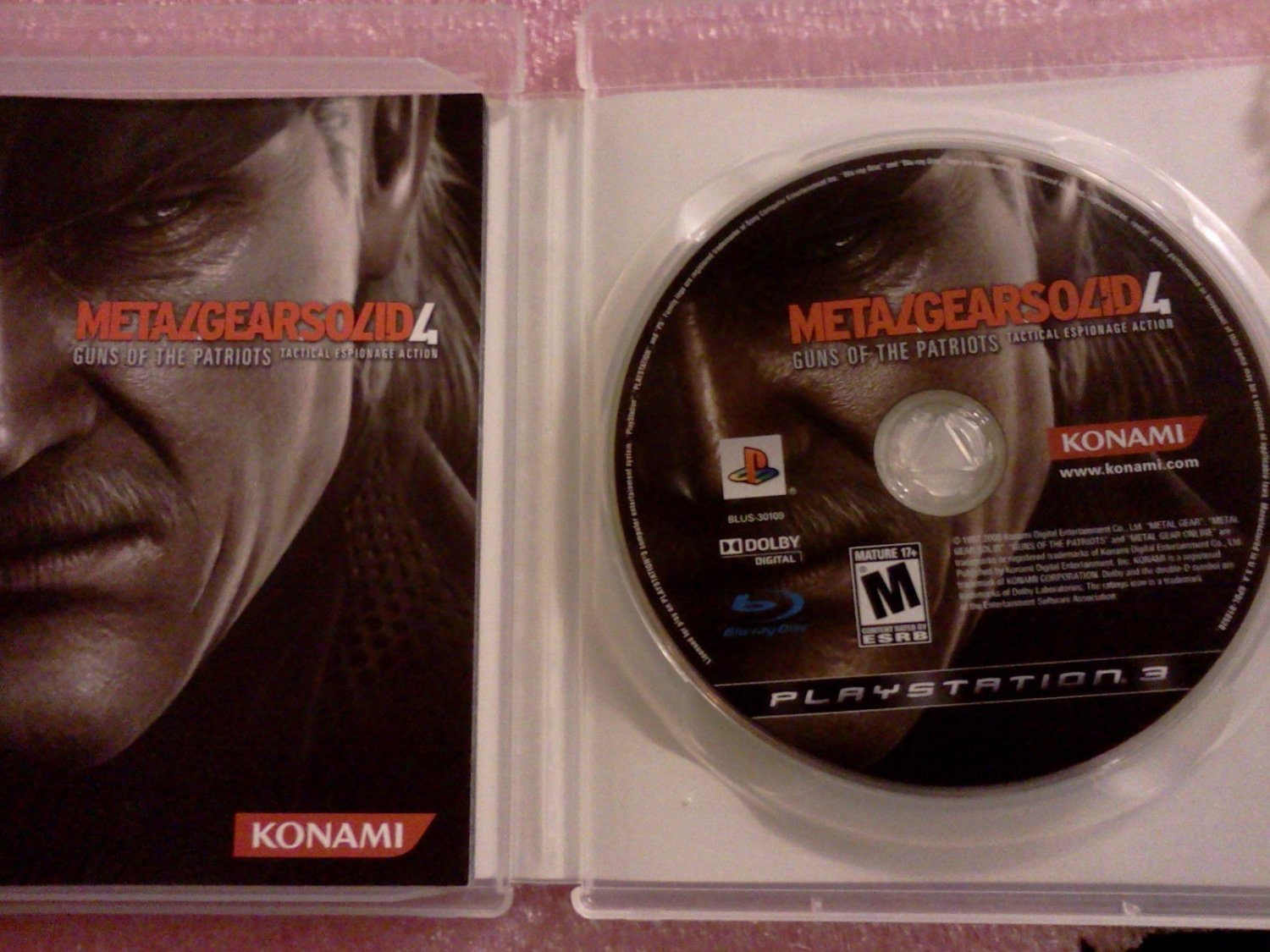 Metal Gear Solid 4: Guns of the Patriots (Sony PlayStation 3, PS3 2008)