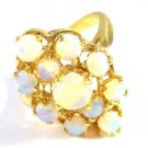 14 kt gold ring with opals