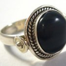Old silver ring with jasper