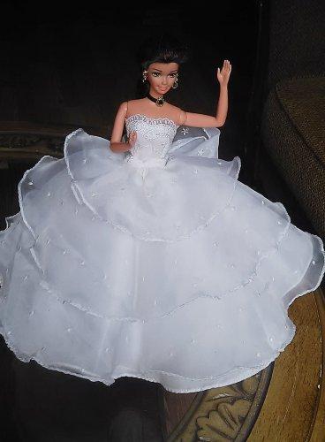 Barbie Princess Wendoline Handmade White Dress OOAK