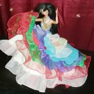 Barbie Doll  Fiesta Fashion Handmade Party Gown Dress Bridal Clothes Girls Gift Play