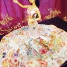Barbie Doll Fashion Handmade White Flowers Fiesta Party Bridal Gown Dress Clothes Gift Girls