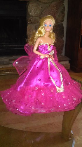 Barbie Doll Fuchsia Handmade Royalty Princess Party Bridal Gown Dress Clothes Girls Gifts