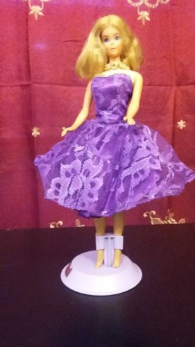 BARBIE DOLL  VIOLET LACE ROYALTY PRINCESS PARTY DRESS GIRLS GIFTS OOAK