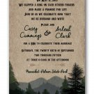Personalized Rustic Woodsy Wedding Invitations & RSVP Camping Wedding Mountain Wedding