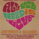 "Retro Poster ""All you need is love""  Wedding Invitation & RSVP"