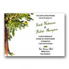 Love birds in a tree Wedding Invitation & RSVP
