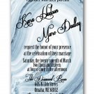 Blue Agate Stone Wedding Invitation & RSVP