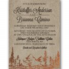 Copper Foil Mountains Wedding Invitation & RSVP