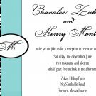 Damask monogram modern Wedding Invitation & RSVP