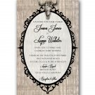 Deer Skull rustic Wedding Invitation & RSVP