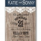 Denim and Lace Wedding Invitation & RSVP
