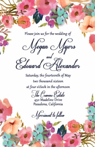 Flower Garden Wedding Invitation & RSVP