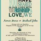 Friendship and Love Wedding Invitation & RSVP