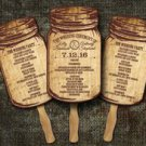 Rustic Mason Jar Country Wedding Fan Programs/ Wedding Program fans Programs/ Wedding fans