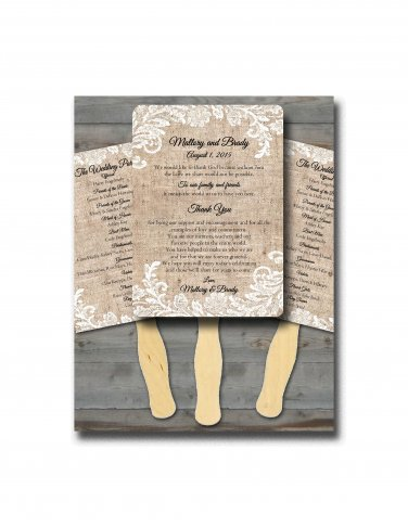 Personalized Wedding Program Fans/Wedding Fan Programs/ Wedding fans for guests