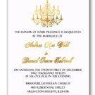 Gold Foil Chandelier Elegant Wedding Invitations & RSVP